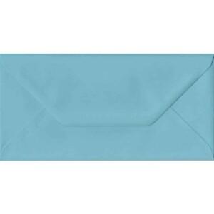 100 DL Blue Envelopes. Blue. 110mm x 220mm. 100gsm paper. Gummed Flap.
