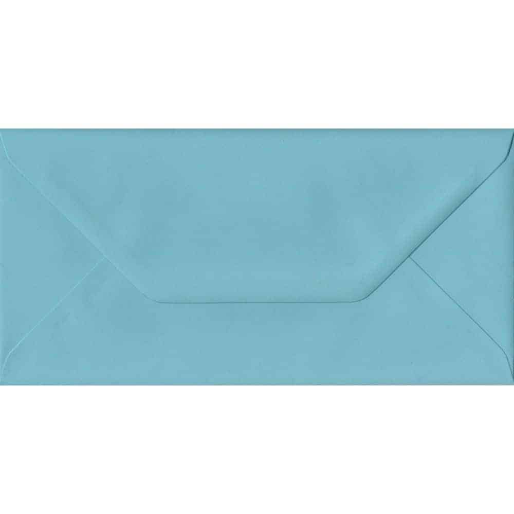 100 DL Blue Envelopes. Blue. 110mm x 220mm. 100gsm paper. Gummed Flap.