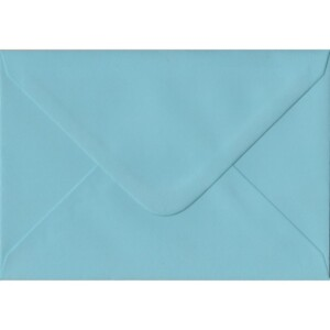 100 A6 Blue Envelopes. Blue. 114mm x 162mm. 100gsm paper. Gummed Flap.