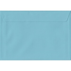 100 A5 Blue Envelopes. Blue. 162mm x 229mm. 100gsm paper. Peel/Seal Flap.