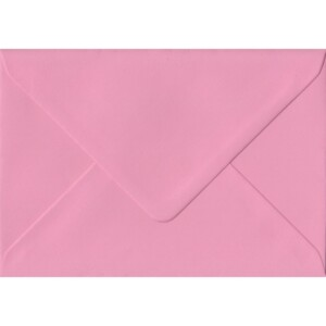 100 A6 Pink Envelopes. Pink. 114mm x 162mm. 100gsm paper. Gummed Flap.
