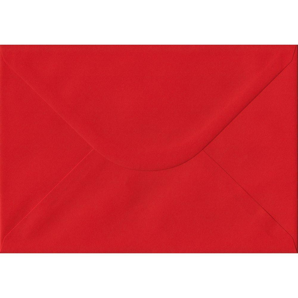 100 A5 Red Envelopes. Poppy Red. 162mm x 229mm. 100gsm paper. Gummed Flap.