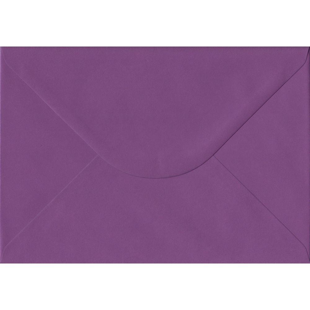 100 A5 Purple Envelopes. Purple. 162mm x 229mm. 100gsm paper. Gummed Flap.