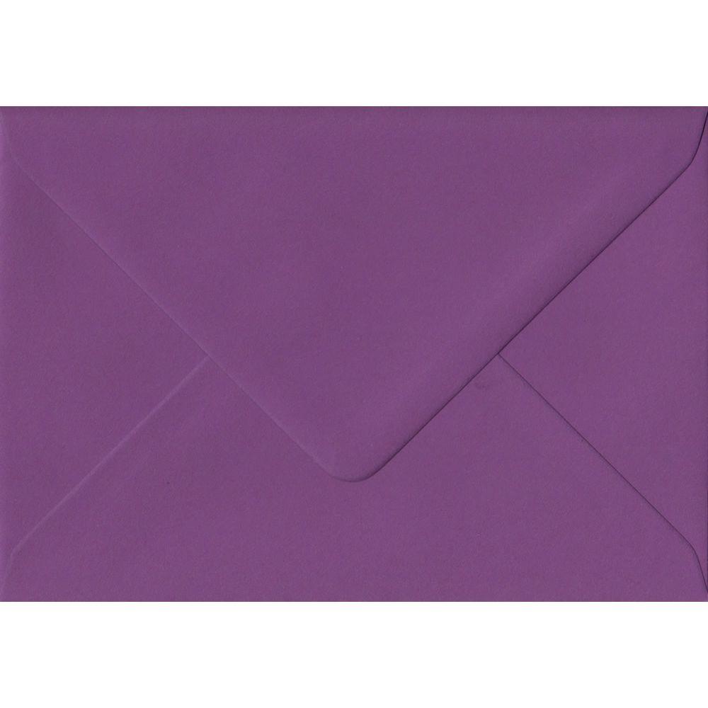 100 A6 Purple Envelopes. Purple. 114mm x 162mm. 100gsm paper. Gummed Flap.
