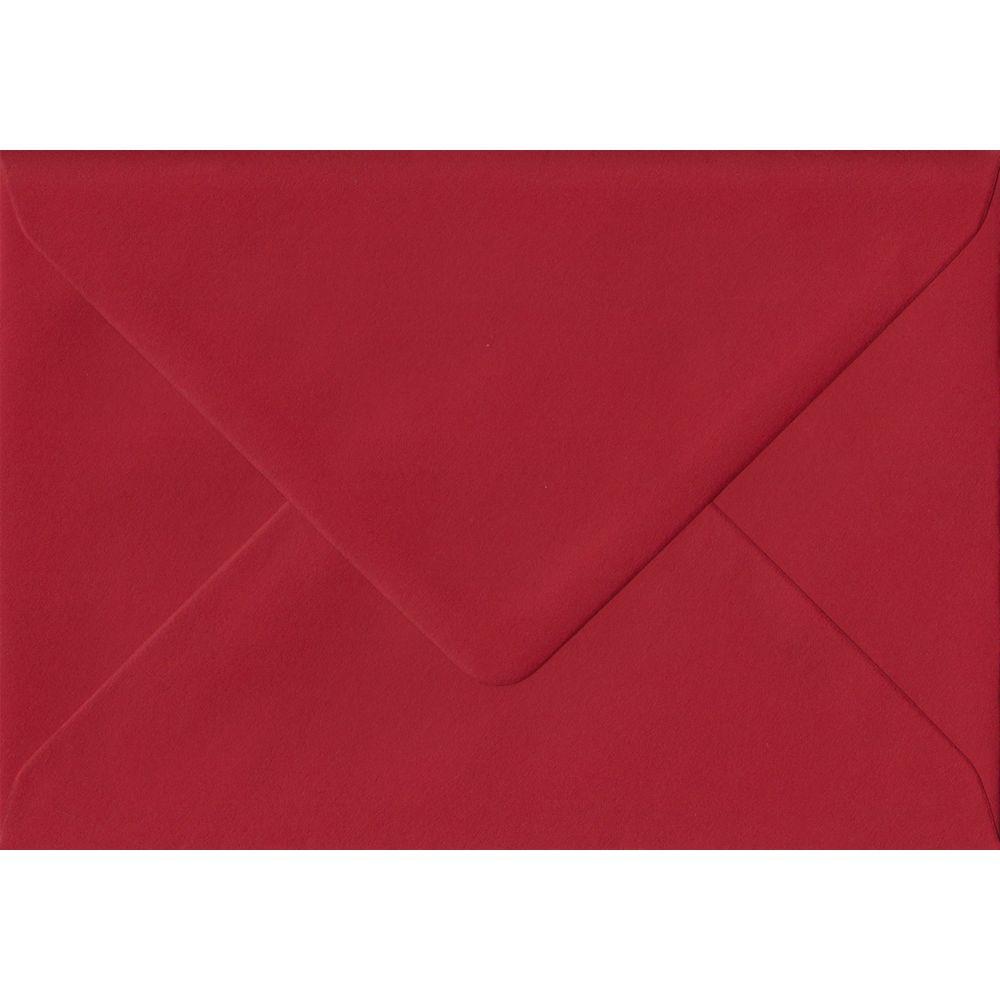 100 A6 Red Envelopes. Scarlet Red. 114mm x 162mm. 100gsm paper. Gummed Flap.