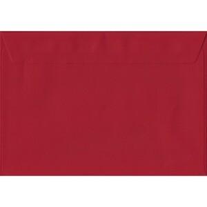 100 A5 Red Envelopes. Scarlet Red. 162mm x 229mm. 100gsm paper. Peel/Seal Flap.