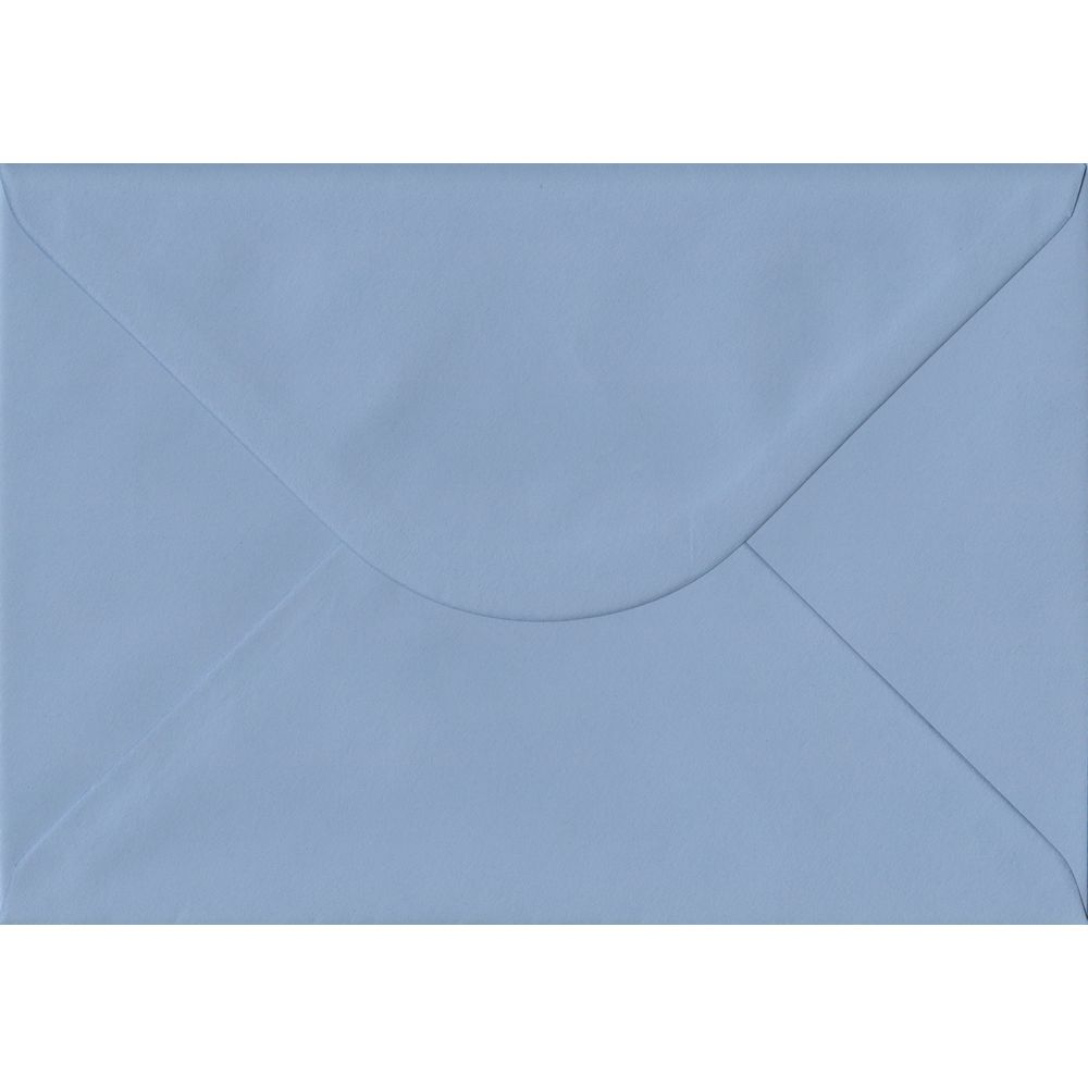 100 A5 Blue Envelopes. Wedgwood Blue. 162mm x 229mm. 100gsm paper. Gummed Flap.