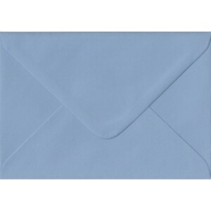100 A6 Blue Envelopes. Wedgwood Blue. 114mm x 162mm. 100gsm paper. Gummed Flap.