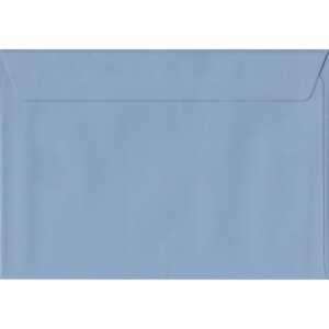 100 A5 Blue Envelopes. Wedgwood Blue. 162mm x 229mm. 100gsm paper. Peel/Seal Flap.
