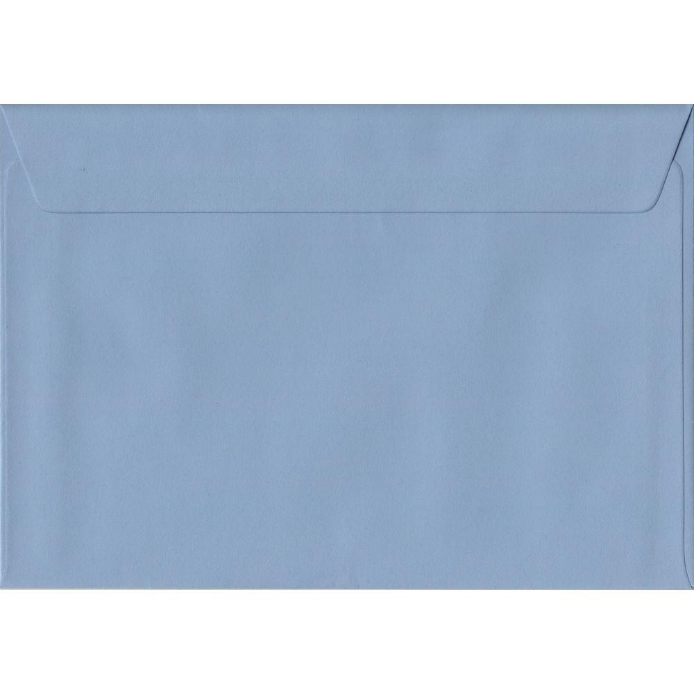 100 A5 Blue Envelopes. Wedgwood Blue. 162mm x 229mm. 100gsm paper. Peel/Seal Flap.