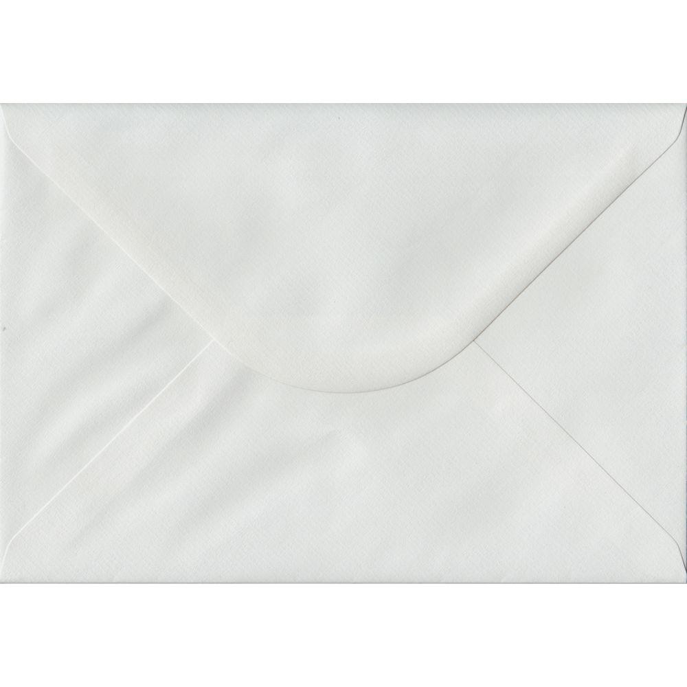 100 A5 White Envelopes. White Laid. 162mm x 229mm. 100gsm paper. Gummed Flap.