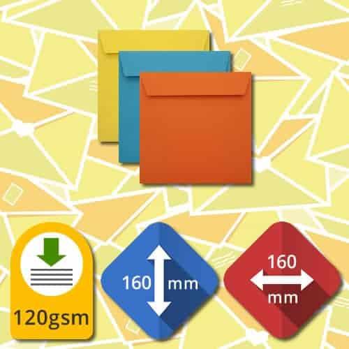 160mm Square Self Sealing Luxury Envelopes