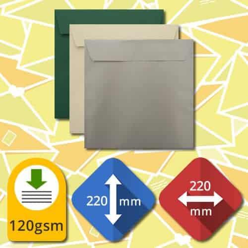 220mm Square Self Sealing Luxury Envelopes