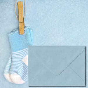 Baby Blue Coloured Envelopes