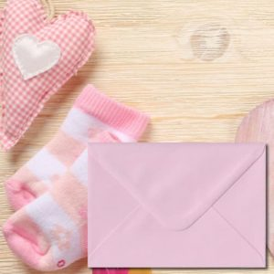 Baby Pink Coloured Envelopes