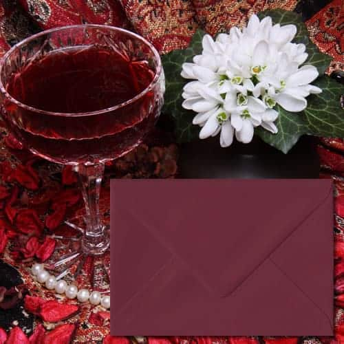 Deep Bordeaux Red Envelopes