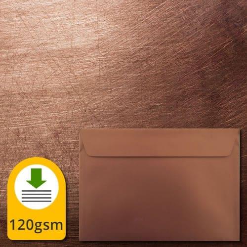 Shiny Bronze Metallic Envelopes