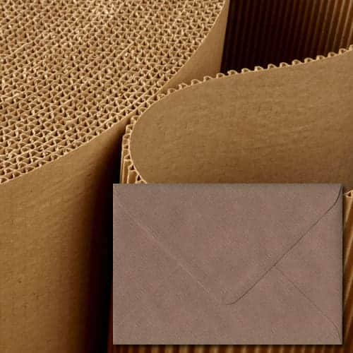 Brown Ribbed Textured Envelopes