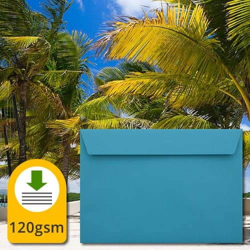 Caribbean Blue Luxury Envelopes