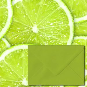 Fresh Green Coloured Envelopes