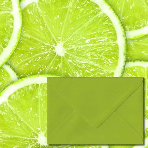 Fresh Green Colour Envelopes