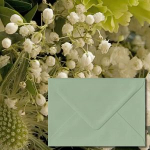 Heritage Green Coloured Envelopes