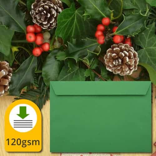 Holly Green Luxury Envelopes