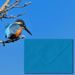 Kingfisher Blue Coloured Envelopes