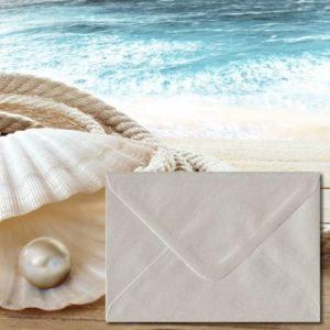 Oyster White Coloured Envelopes
