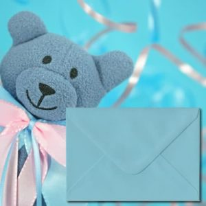 Pastel Blue Coloured Envelopes