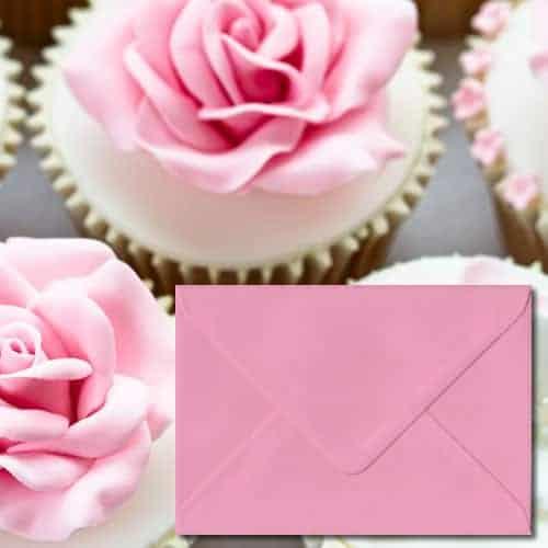 Pastel Pink Colour Envelopes