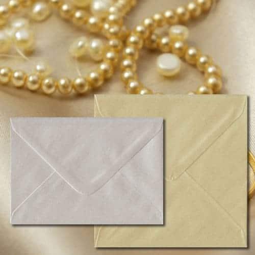 Champagne Pearl Envelopes