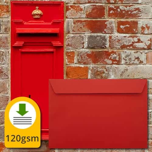 Pillar Box Red Luxury Envelopes