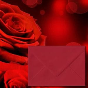 Scarlet Red Coloured Envelopes