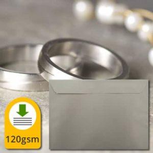 Metallic Silver 130gsm