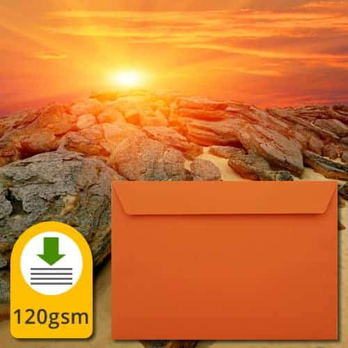 Sunset Orange Luxury Envelopes