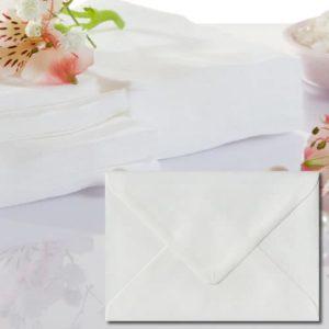 White Laid Textured Envelopes