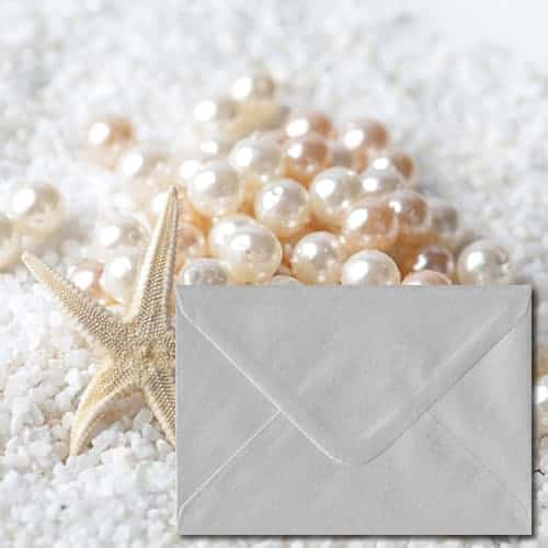 White Pearlescent Envelopes