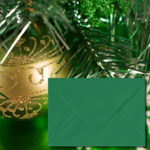 Xmas Green Coloured Envelopes