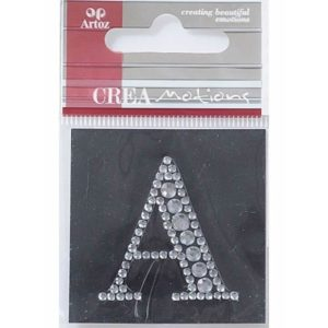 Diamond Crystal Letter A Craft Embellishment By Artoz