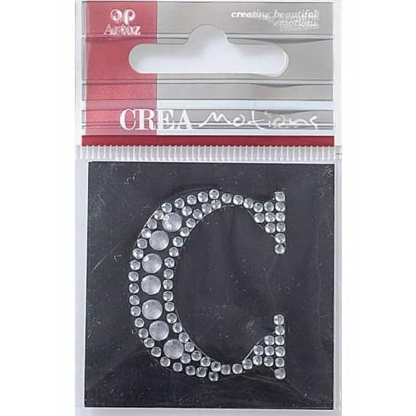Diamond Crystal Letter C Craft Embellishment By Artoz