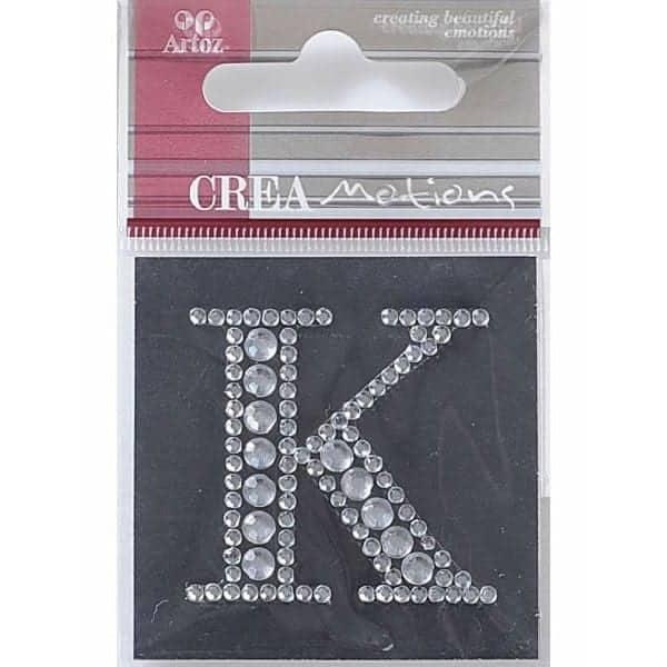 Diamond Crystal Letter K Craft Embellishment By Artoz
