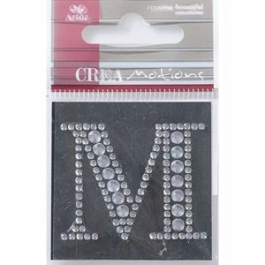 Diamond Crystal Letter M Craft Embellishment By Artoz