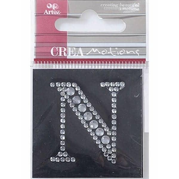 Diamond Crystal Letter N Craft Embellishment By Artoz