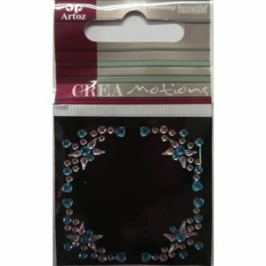 Blue Clear Crystal Decorative Border By Artoz