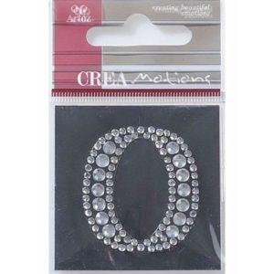 Diamond Crystal Letter O Craft Embellishment By Artoz