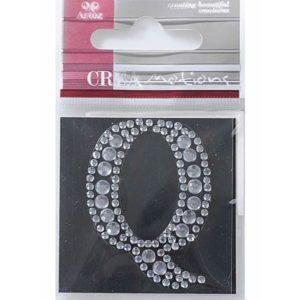 Diamond Crystal Letter Q Craft Embellishment By Artoz