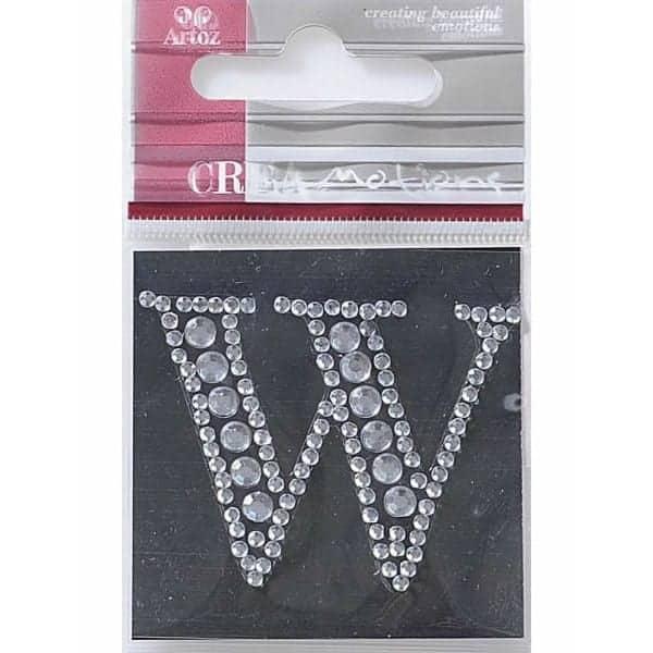 Diamond Crystal Letter W Craft Embellishment By Artoz