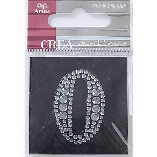 Diamond Crystal Number 0 Craft Embellishment By Artoz