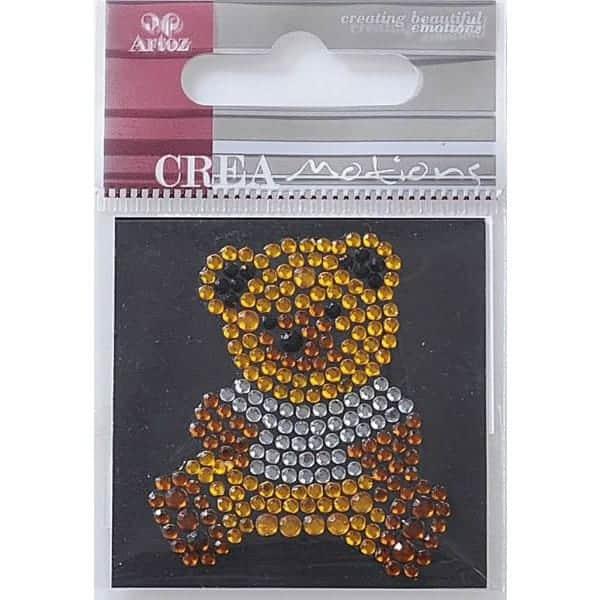 Diamond Crystal Teddy Craft Embellishment By Artoz